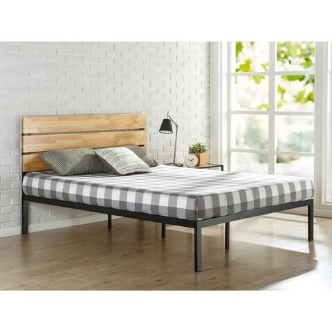 Priage Sonoma Metal and Wood Platform Bed