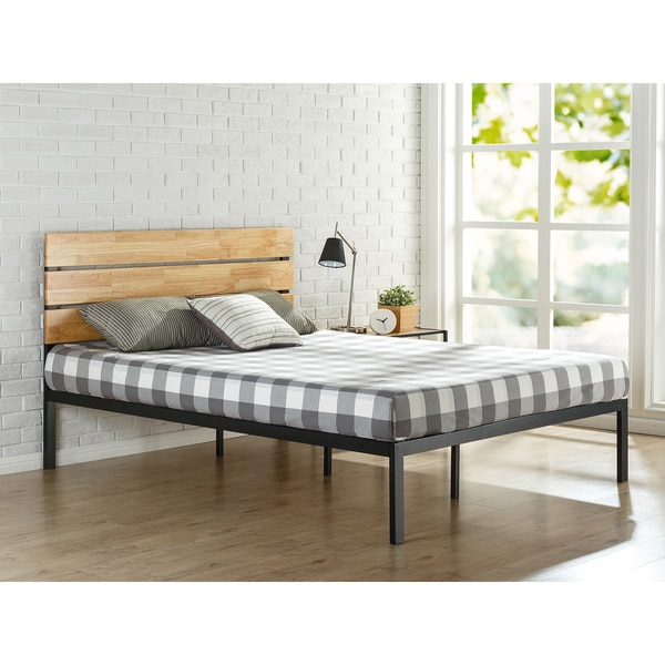 Priage by Zinus Sonoma Metal and Wood Platform Bed