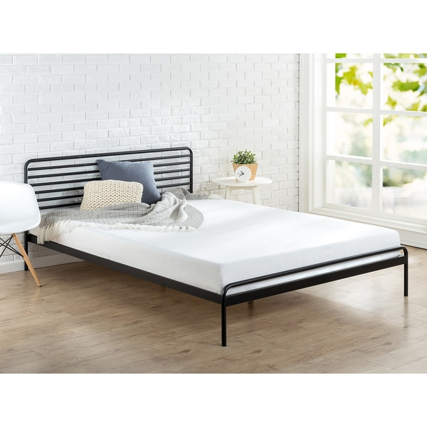 shop priage sonnet metal platform bed on sale free shipping today 16680217. Black Bedroom Furniture Sets. Home Design Ideas