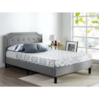 Priage Scalloped Upholstered Platform Bed (3 options available)