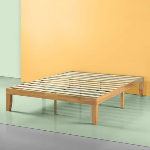 Priage by Zinus 14 Inch Solid Wood Platform Bed, Natural
