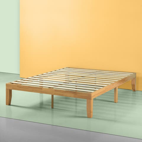 Priage Solid Wood Platform Bed, Natural
