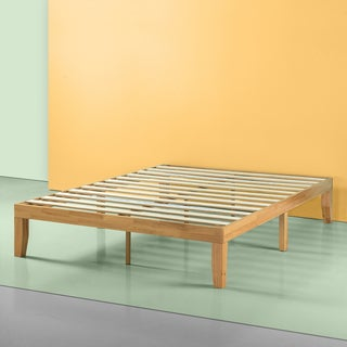 Priage Natural Solid Wood Platform Bed