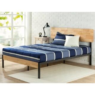 Priage Tuscan Metal and Wood Platform Bed
