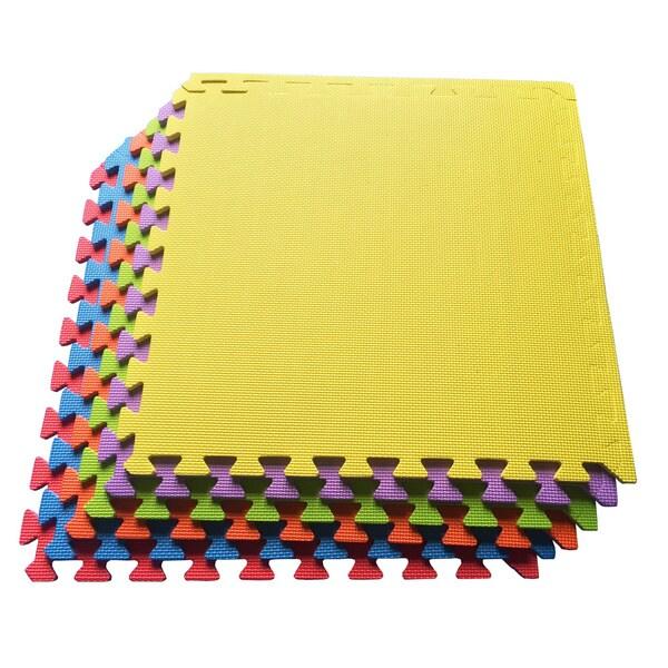 Multipurpose Interlocking EVA Foam Anti-Fatigue Gym Mat / Puzzle Mat Tiles, (24 Square Feet, 6 Tiles)