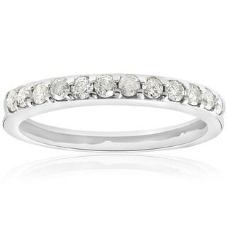 14k White Gold 1/2 ct TDW Diamond Wedding Anniversary Ring (I-J,I2-I3)
