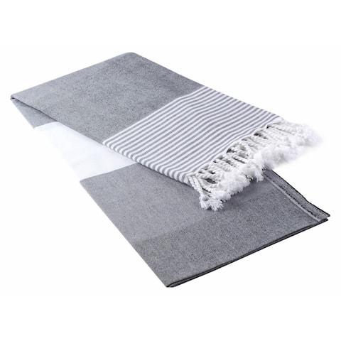 Deniz Pestemal Fouta Turkish Cotton Beach Towel - 40x70 inches