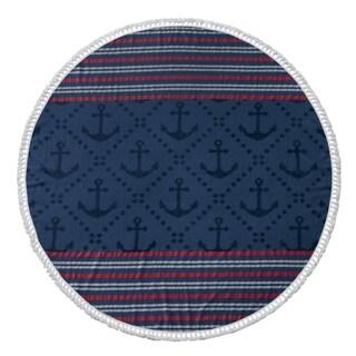 Anchor Round Beach Towel