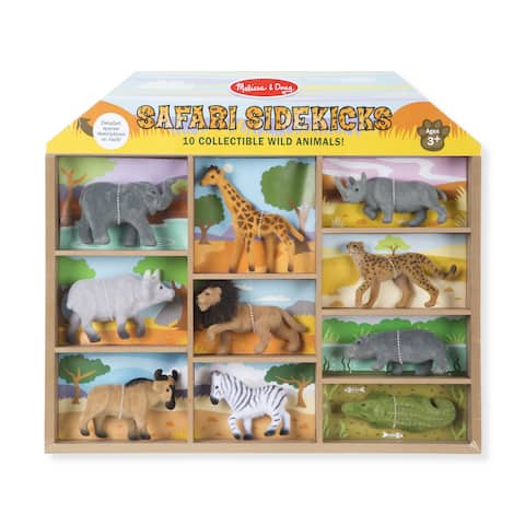 Melissa & Doug Safari Sidekicks 10 Collectible Wild Animals