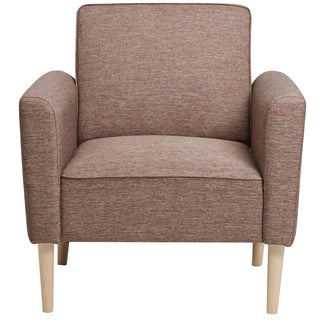 Brown Upholstered Arm Chair