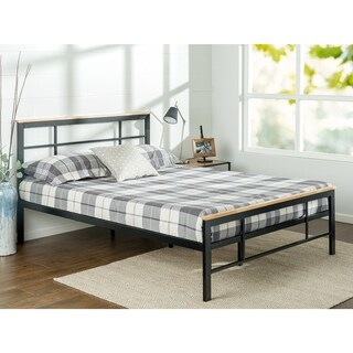 Priage Urban Metal and Wood Platform Bed