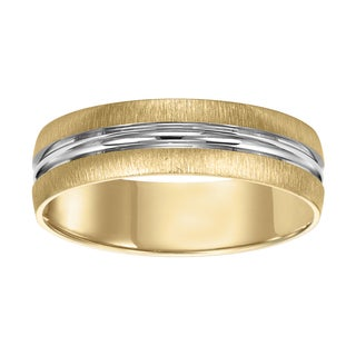 Cambridge 14kt White/Yellow Gold Two-Tone Men's Wedding Band