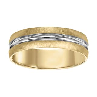 cambridge 14kt whiteyellow gold two tone mens wedding band - Two Tone Wedding Rings