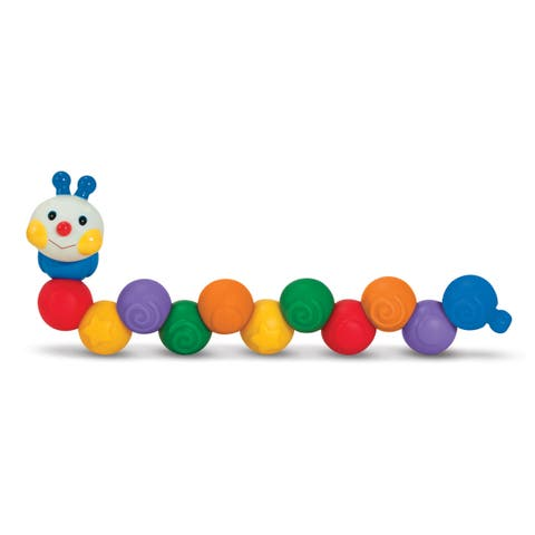 Melissa & Doug Build An Inchworm Pop Blocs Learning Toy