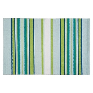 Woven Mirage Green Cotton Rug (2' x 3')