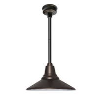 "16"" Calla LED Pendant Light in Mahogany Bronze with Black Downrod"