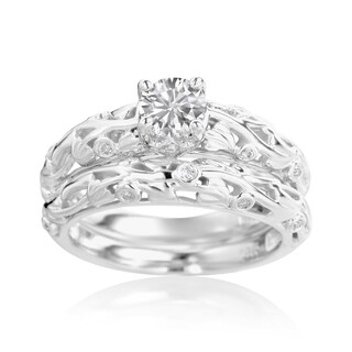 SummerRose 14k White Gold 5/8ct TDW Diamond Engagement Ring and Wedding Band Set (More options available)