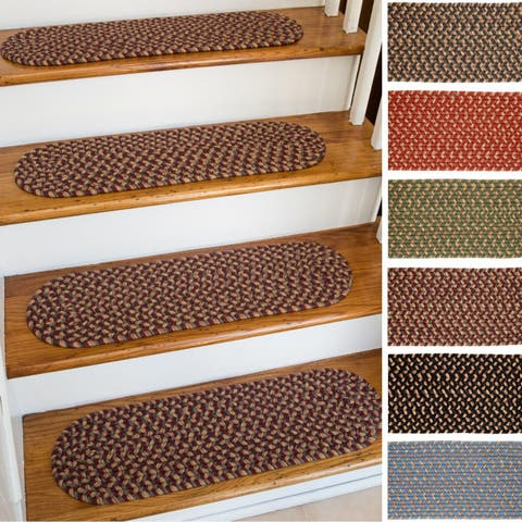 Ellsworth Indoor/Outdoor Reversible Braided Stair Treads (8 inch x 28 inch)(Set of 4)
