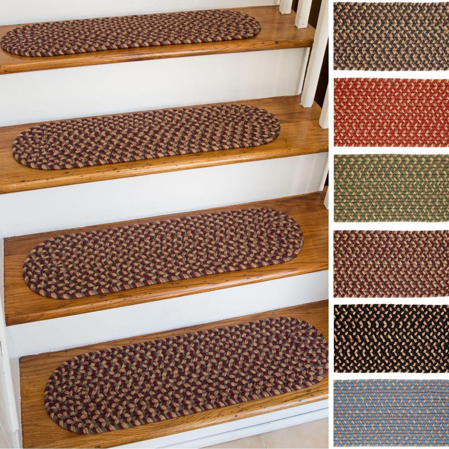 Ellsworth Indoor/Outdoor Reversible Braided Stair Treads (8 Inch X 28 Inch)(