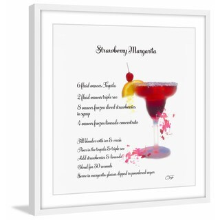 'Strawberry Martini Recipe' Framed Painting Print