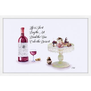 'Red Wine Dessert' Framed Painting Print