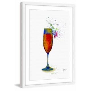 'Champagne Blaster' Framed Painting Print
