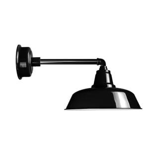 "14"" Goodyear LED Barn Light with Metropolitan Arm in Black"