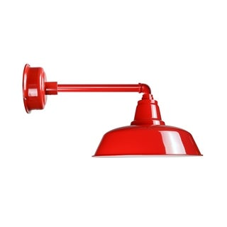 "14"" Goodyear LED Barn Light with Metropolitan Arm in Cherry Red"