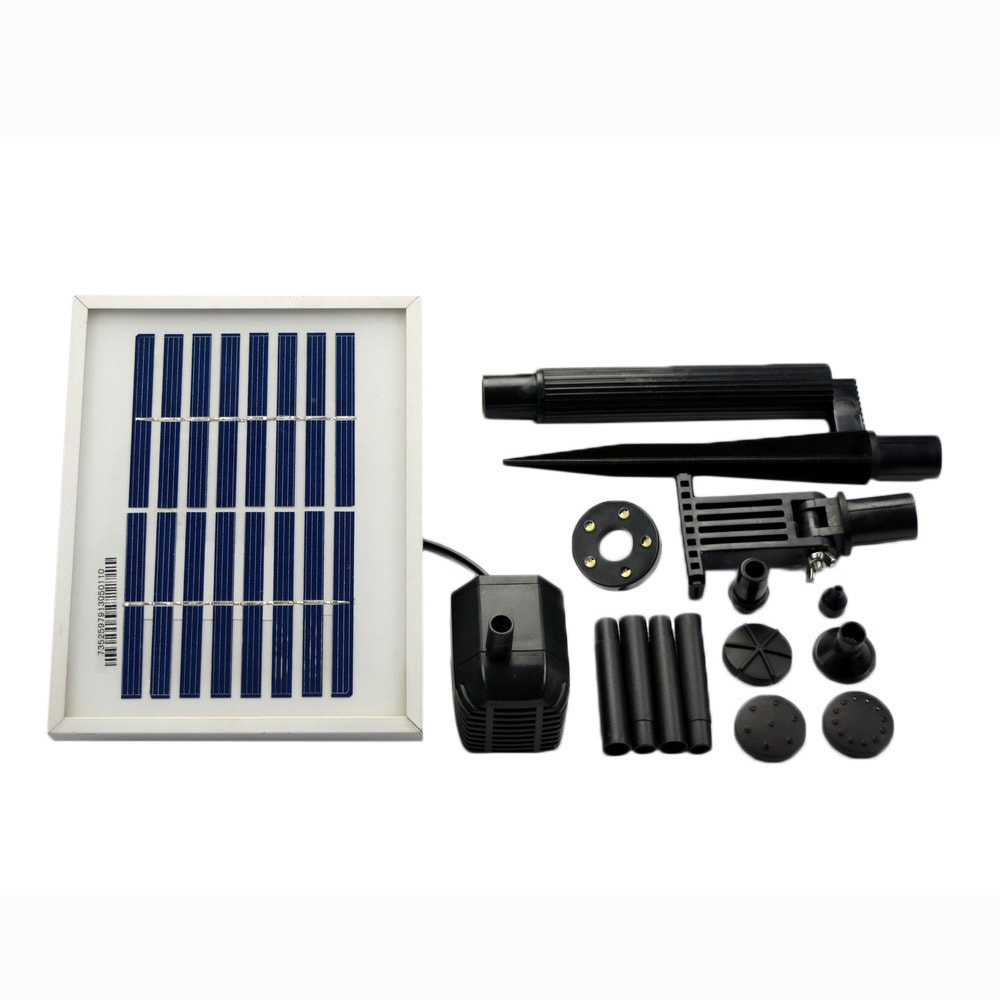 ASC 3 Watt Solar Panel with Water Pump Battery LED Kits for Pond Pool