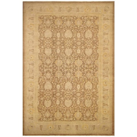 Hand-Knotted Sun-Faded Audry Brown/Tan Wool Rug (12'0 x 17'7) - 12 ft. 0 in. x 17 ft. 7 in. - 12 ft. 0 in. x 17 ft. 7 in.