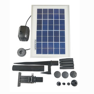 ASC 3-watt Solar Water Pump Kit with Battery Timer and LED Light for Fountain