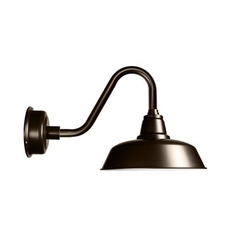 """14"""" Goodyear LED Barn Light with Vintage Arm in Mahogany Bronze"""