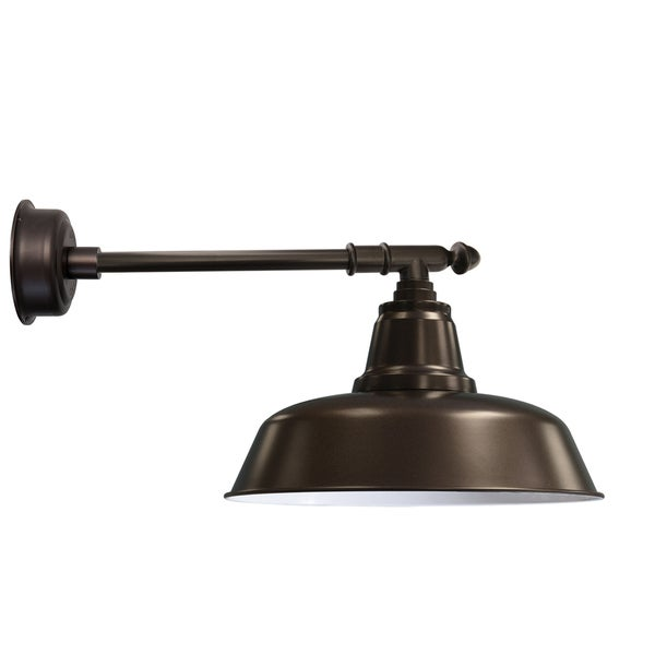 "14"" Goodyear LED Barn Light with Victorian Arm in Mahogany Bronze"