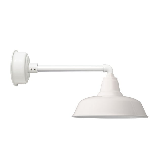 "14"" Goodyear LED Barn Light with Metropolitan Arm in White"