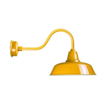 "14"" Goodyear LED Barn Light with Contemporary Arm in Yellow"