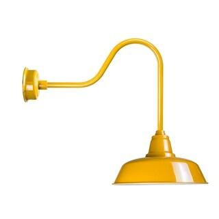 "14"" Goodyear LED Barn Light with Sleek Arm in Yellow"