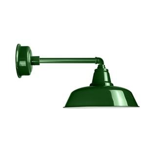 """16"""" Goodyear LED Barn Light with Metropolitan Arm in Vintage Green"""
