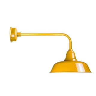 "16"" Goodyear LED Barn Light with Traditional Arm in Yellow"
