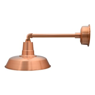 "14"" Oldage LED Barn Light with Metropolitan Arm in Solid Copper"