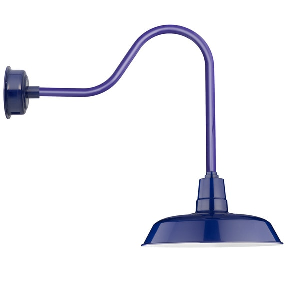 "16"" Oldage LED Barn Light with Sleek Arm in Cobalt Blue"