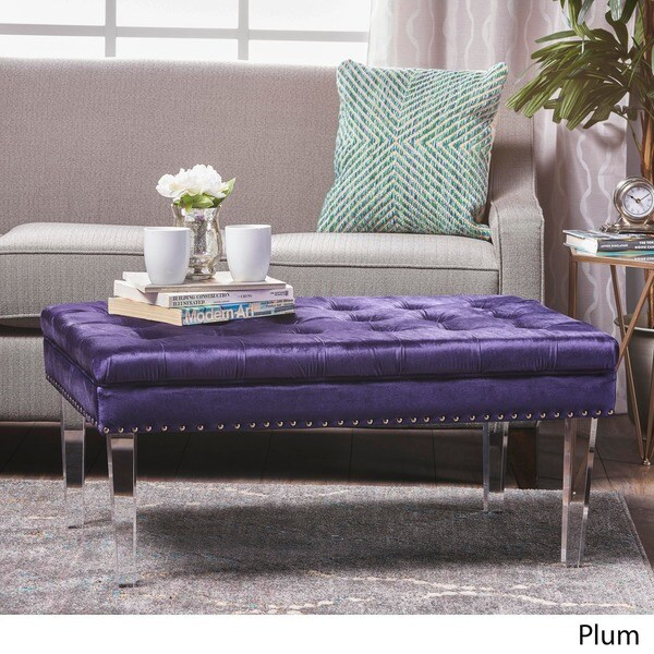 Charmant Colonel New Velvet Ottoman By Christopher Knight Home