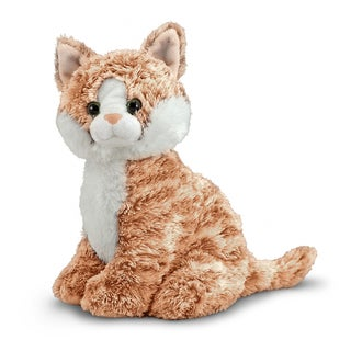 Melissa & Doug Pumpkin Tabby Cat Stuffed Animal