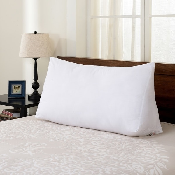 Cheer Collection Ultra Supportive Oversized Reading Wedge Pillow - White
