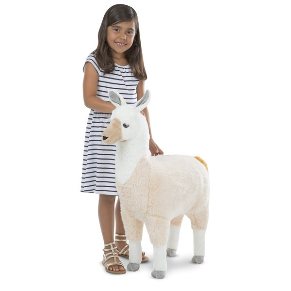 Shop Melissa Doug Llama Lifelike Plush Animal On Sale Free