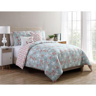 VCNY Home Jasmine Reversible 5-piece Comforter Set