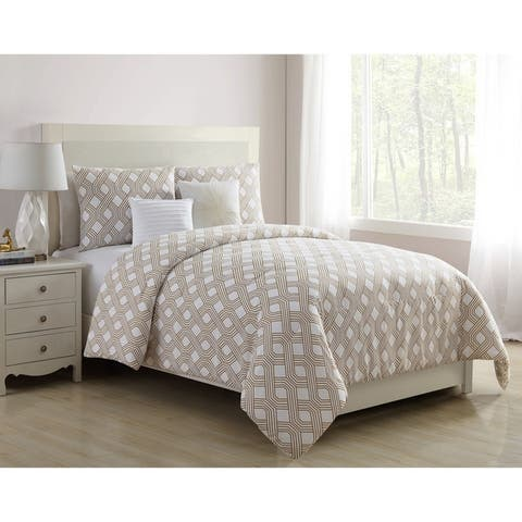 VCNY Home Eli Geometric Reversible Comforter Set