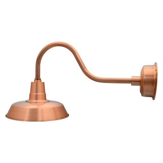 """22"""" Oldage LED Barn Light with Contemporary Arm in Solid Copper"""
