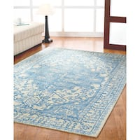 Dynamic Rugs Borgia Blue Wool Area Rug (8' x 11')