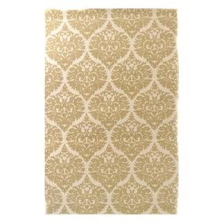 Dynamic Rugs Borgia Ivory/ Gold Wool Area Rug (2' x 4')