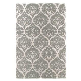 Dynamic Rugs Borgia Ivory/ Grey Wool Area Rug (2' x 4')